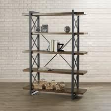 Etagere Wood Etagere Industrial Bookcases You U0027ll Love Wayfair