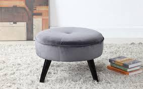 carl round velvet footrest sofamania com