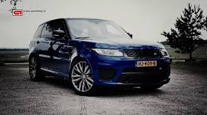 navy range rover sport range rover sport svr review youtube