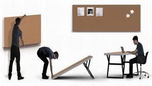 Keller Expandable Reception Desk Folding Furniture Designs For Small Urban Spaces Folding