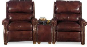 wedge home theater wood leather nailhead traditional theater
