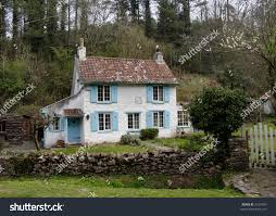 english cottage house english cottage rural wooded valley stock photo 3129475 shutterstock
