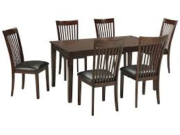 signature design by ashley mallenton mission style 7 piece dining signature design by ashley mallenton mission style 7 piece dining room rectangular table set miskelly furniture dining 7 or more piece set