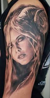 portrait tattoo on sleeve by carlos torres design of