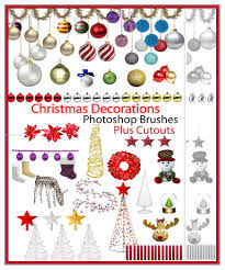 christmas decorations cutouts ps 7 brushes 123freebrushes