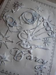 glue and tin foil art kid craft monday a and a glue gun