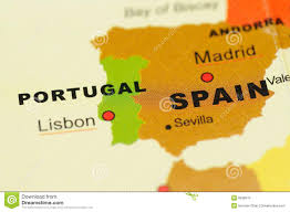 Spain Map World by Portugal And Spain On Map Royalty Free Stock Photo Image 6838515
