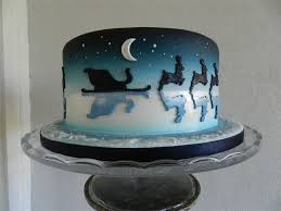 Christmas Cake Decorations Santa Sleigh by 264 Best Christmas Cake Designs Images On Pinterest Xmas Cakes