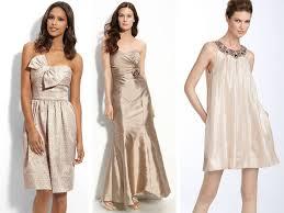 blush wedding dress with champagne bridesmaids champagne ruffles