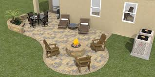 Paver Patios With Fire Pit by 3d Paver Patios Gallery Daniellefence Com