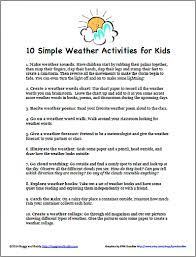 weather worksheets for kids worksheets