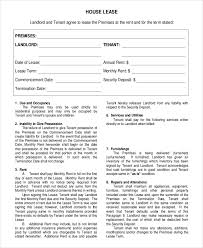 17 house rental agreement templates u2013 free sample example format