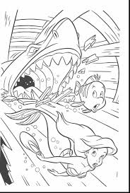 fabulous ariel little mermaid coloring pages with the little