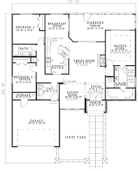 mediterranean floor plans with courtyard floor plan design autocad home act