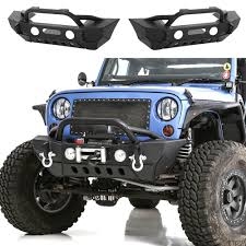 jeep yj rock crawler 07 16 jeep wrangler jk rock crawler stubby front bumper fog light