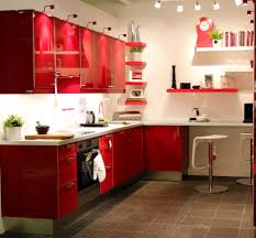 Red Oak Kitchen Cabinets by Kitchen Inspiring Red Kitchen Design Presented With Red Wood