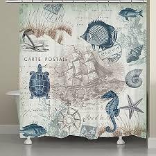 Nautical Shower Curtains Captivating Nautical Bathroom Curtains Decor With Best 25 Nautical