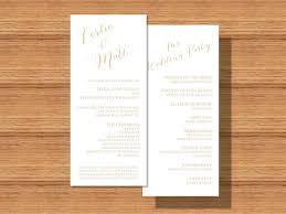 sided wedding programs modern wedding modern sided wedding program 2289293