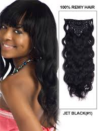 human hair extensions clip in jet black 1 wave clip in ultimate indian remy human hair