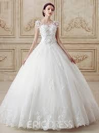 lace backless wedding dress ericdress modest scoop gown lace backless wedding dress