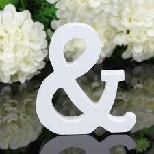 online shop home decoration crafts 8cmx1 2cm white wooden letter