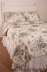 Country Duvet Covers Quilts Toile Quilt Set Foter