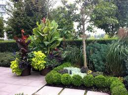 a modern tropical patio garden tropical landscape vancouver