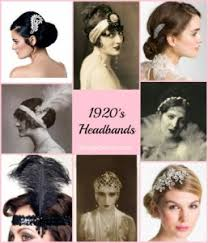 1920s hair accessories 1920s headband headpiece hair accessory styles