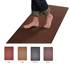Brown Kitchen Rugs Amazon Com Feel At Ease Mat 24 X 36 Espresso Kitchen Mats