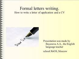 how to write an application letter ppt video online download