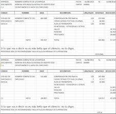 plantilla de nomina para rellenar formato desprendible de nomina office formats