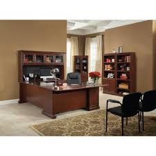 Executive Office Furniture Suites Sauder Heritage Hill Executive Desk Classic Cherry Walmart Com