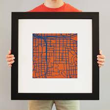 Syracuse University Map Syracuse University Campus Map Art City Prints