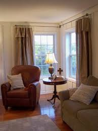 Curtains Corner Windows Ideas Corner Window Ideas Corner Window Curtain Rod Image With Corner