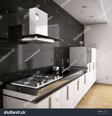 modern kitchen pic modern kitchen sink gas cooktop hood stock illustration 62180917