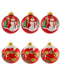 snowman and glass ornament set tree classics