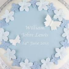 How To Decorate Christening Cake Personalised Boys Christening Cake Decorating Kit By Clever Little