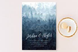 mountain wedding invitations mountain retreat wedding invitations by design lotus minted