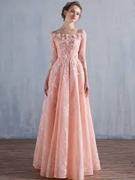 tb dress flowers a line appliques beading lace evening dress tbdress