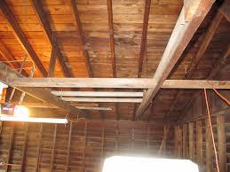 detached garage raising ceiling rafters garage journal board