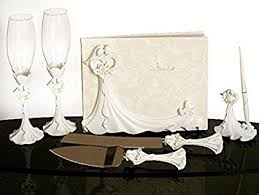 wedding guest book and pen set and groom calla lilys wedding set guest book