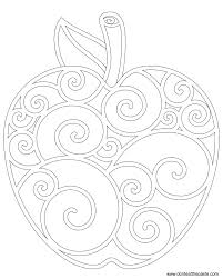 apple coloring page svg cut files pinterest apples