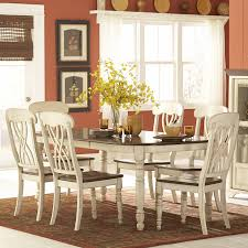 weston home ohana 7 piece rectangle dining table set white u0026amp