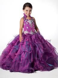 unique pageant girls long purple pink dress
