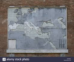 roman mural stock photos roman mural stock images alamy mural the roman empire after the punic wars in 146 bc created by mussolini