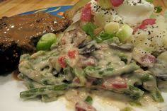 cheesy bacon green bean casserole oven to 350 f 2 cans cream of