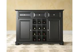 Server Dining Room Alexandria Buffet Server Sideboard Cabinet With Wine Storage In