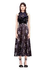 violet dress violet floral satin burnout velvet halter dress from