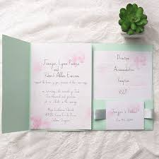 mint wedding invitations mint pocket wedding invitation kits iwpi018 wedding