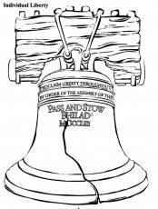 draw liberty bell coloring pages fourth july liberty